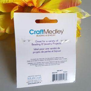 CraftMedley Office - Yellow Glass Seed Beads, 2oz (60g)